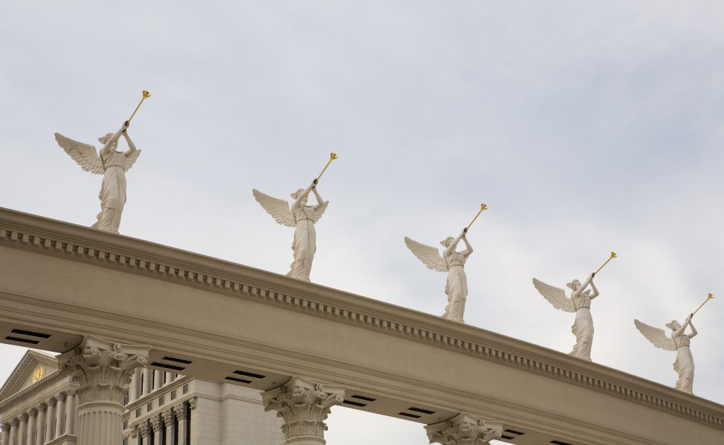 Statues Of Trumpeting Angels